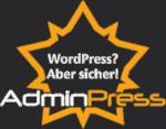 WordPress? Aber sicher! AdminPress - Logo: Draufsicht 5-armige Festung mit Mannier